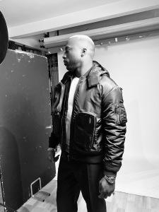 Backstage shot Sam Mansaly Kaikorero jacket